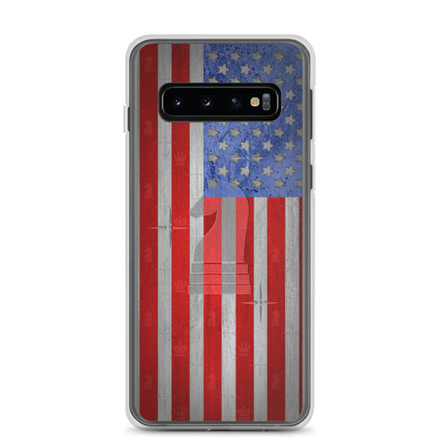 USA Flag Metal Look | Accessories for Samsung | Samsung Case