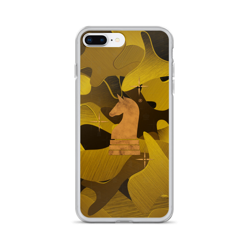 This picture show the zoom of Camouflage 3d Gold Satin | Accessories for iPhone | iPhone Case