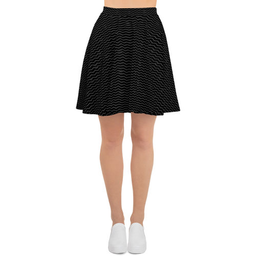 Striped Zig Zag BW | Women's Skirts | Skater Skirt