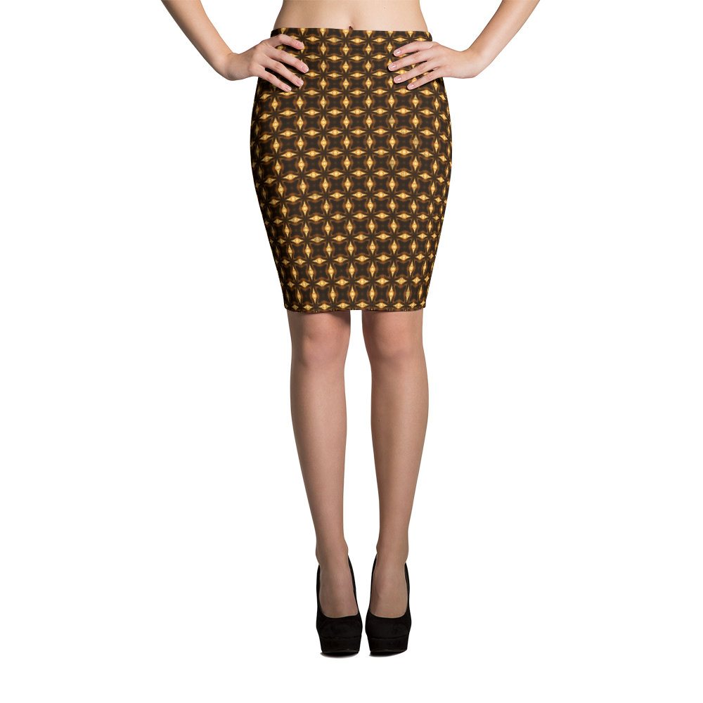 This picture show the zoom of Sagittarii Alpha | Women's Skirts | Pencil Skirt