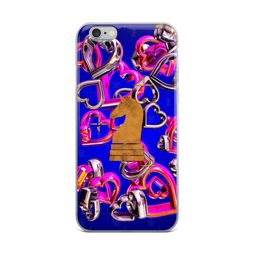 Hearts 3d SuperShiny Pink Silver | Accessories for iPhone | iPhone Case
