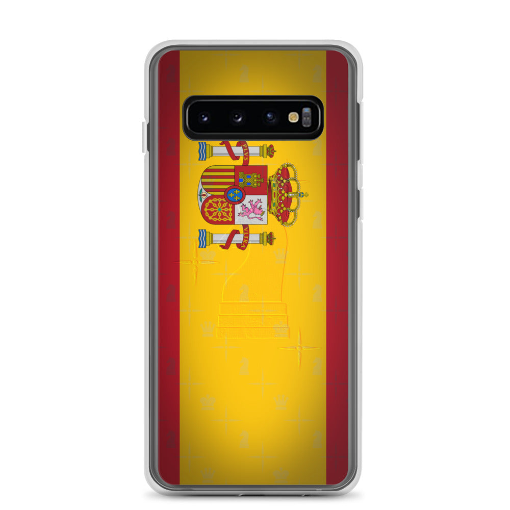 This picture show the zoom of Spain Flag | Accessories for Samsung | Samsung Case