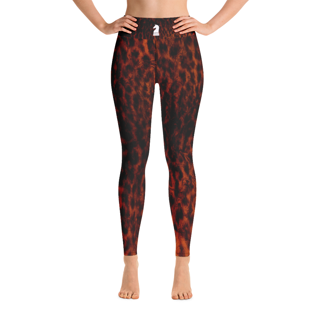 This picture show the zoom of Leopard Dark | Women's Activewear | Yoga Leggings