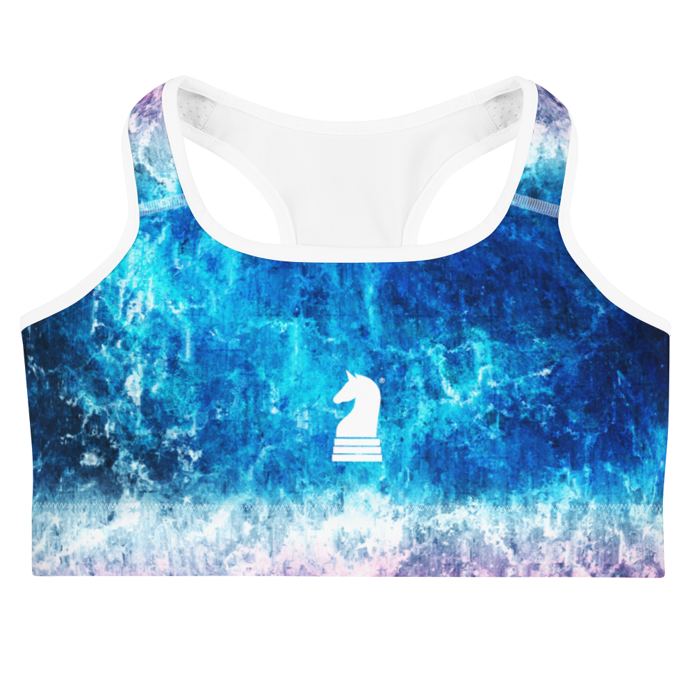 This picture show the zoom of Bleached Stars | Women's Activewear | Sports bra