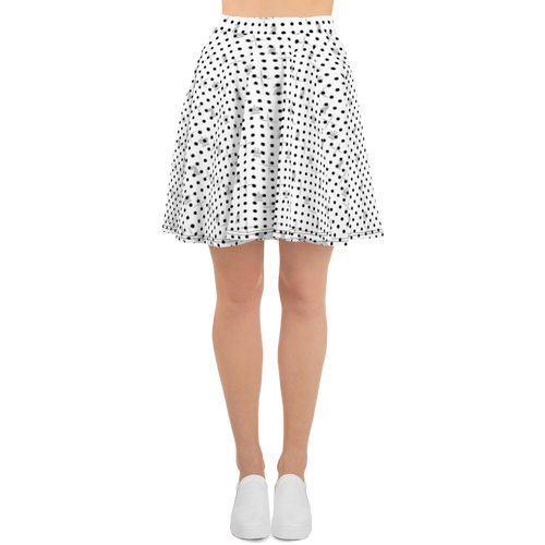 Mighty Mini Dots BW | Women's Skirts | Skater Skirt