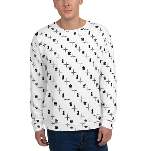 Mighty Logo Black Over White | Men's Casual Wear | AOP Sweatshirt