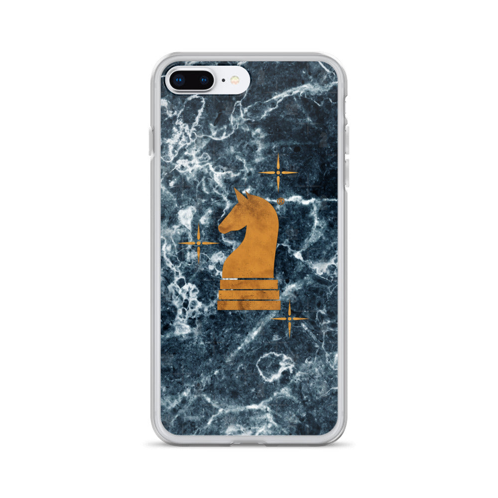 This picture show the zoom of Marble Dark Blue | Accessories for iPhone | iPhone Case