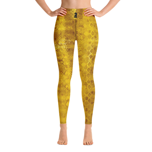 Python Gold | Women's Activewear | Yoga Leggings