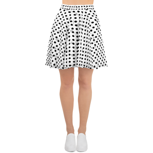 Mighty Dots BW | Women's Skirts | Skater Skirt