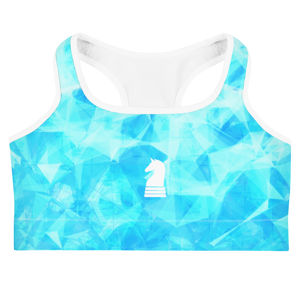 This picture show the zoom of Crystal Turquoise HD | Women's Activewear | Sports bra