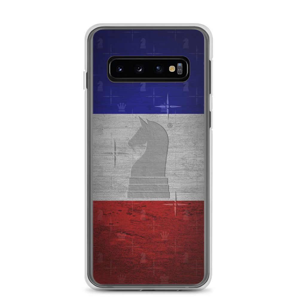 This picture show the zoom of France Flag Metal Look | Accessories for Samsung | Samsung Case