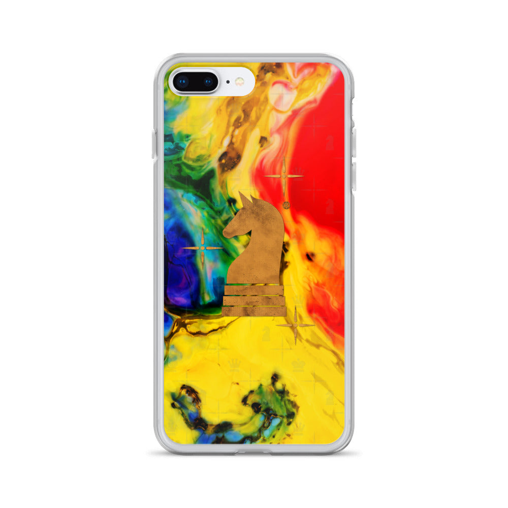 This picture show the zoom of Art Paint Yellow Red | Accessories for iPhone | iPhone Case