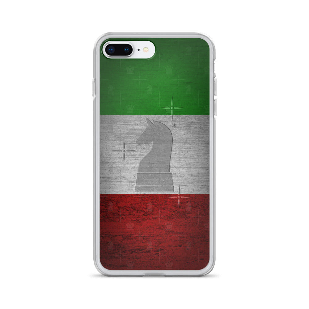 This picture show the zoom of Italy Flag Metal Look | Accessories for iPhone | iPhone Case
