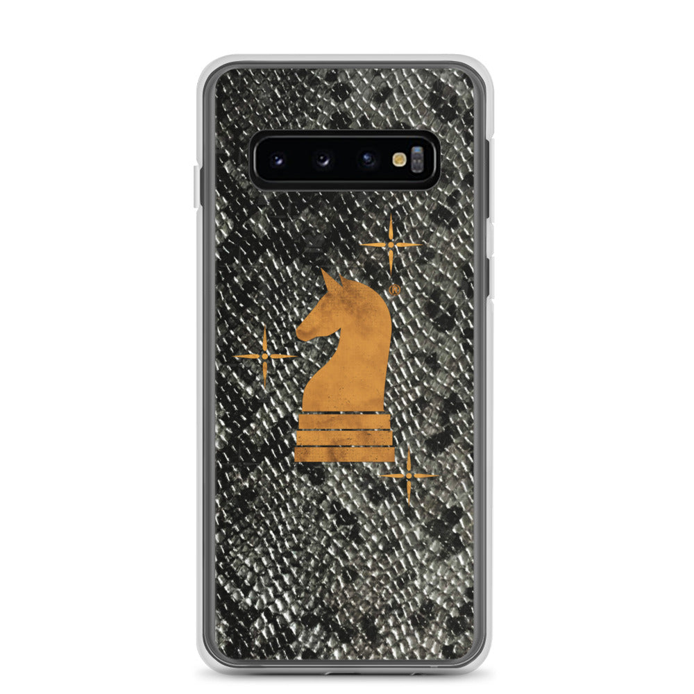 This picture show the zoom of Python Black | Accessories for Samsung | Samsung Case