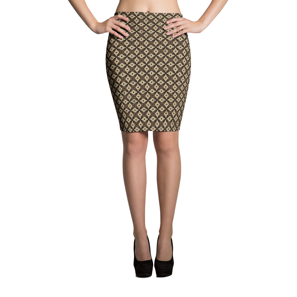 This picture show the zoom of Sagittarii | Women's Skirts | Pencil Skirt