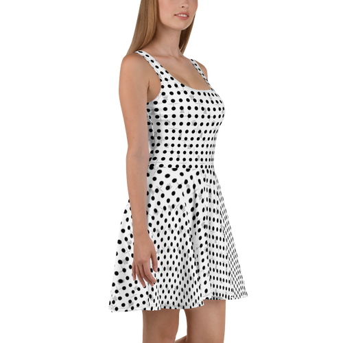 Mighty Dots BW | Women's Dresses | Skater Dress