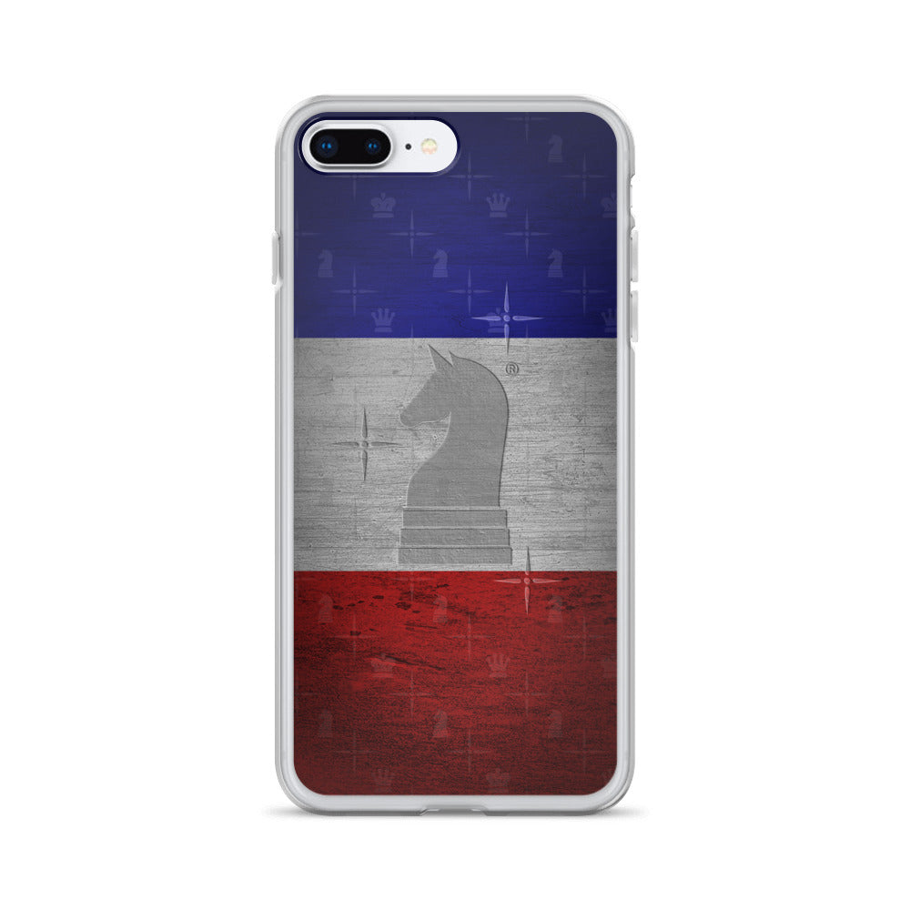 This picture show the zoom of France Flag Metal Look | Accessories for iPhone | iPhone Case