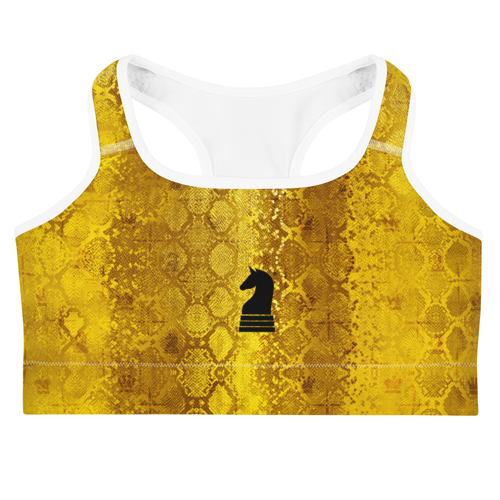 This picture show the zoom of Python Gold | Women's Activewear | Sports bra