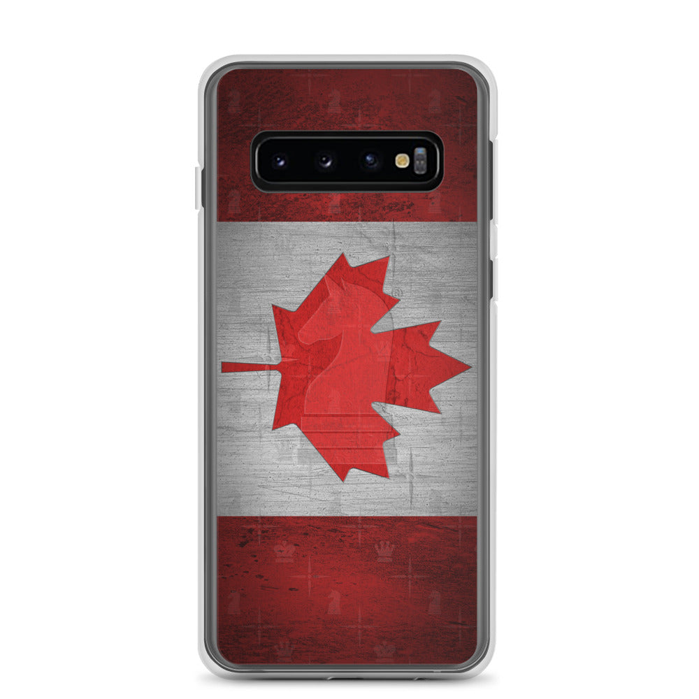 This picture show the zoom of Canada Flag Metal Look | Accessories for Samsung | Samsung Case