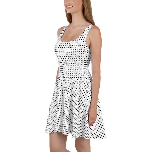 Mighty Mini Dots BW | Women's Dresses | Skater Dress
