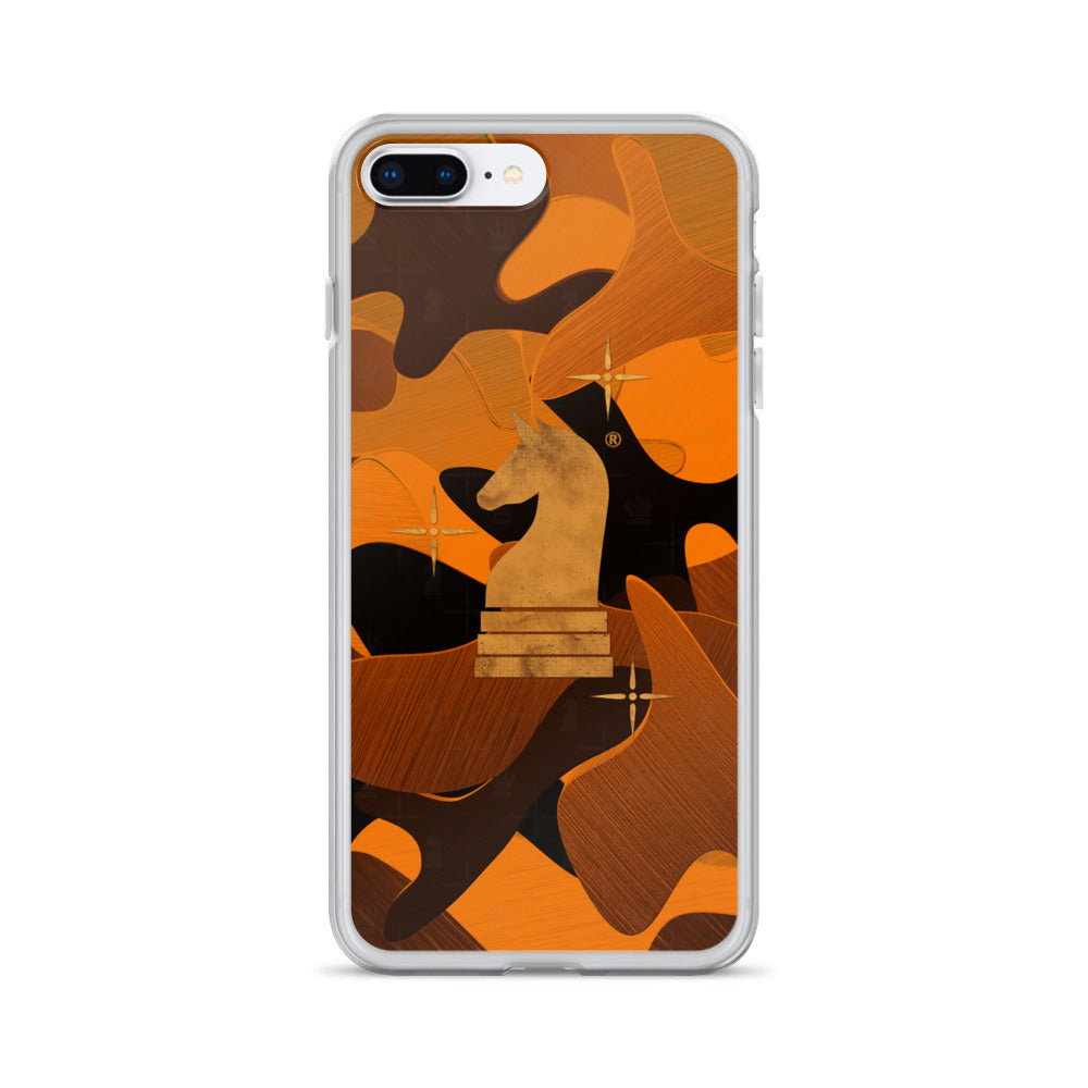 This picture show the zoom of Camouflage 3d Orange | Accessories for iPhone | iPhone Case