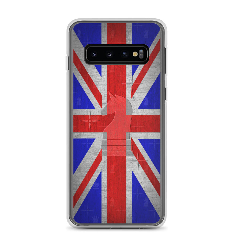 This picture show the zoom of UK Union Jack Flag Metal Look | Accessories for Samsung | Samsung Case