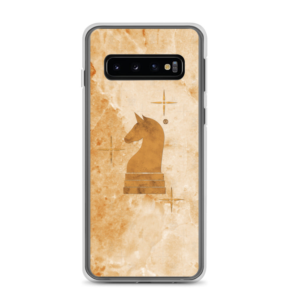 This picture show the zoom of Marble Light Orange | Accessories for Samsung | Samsung Case