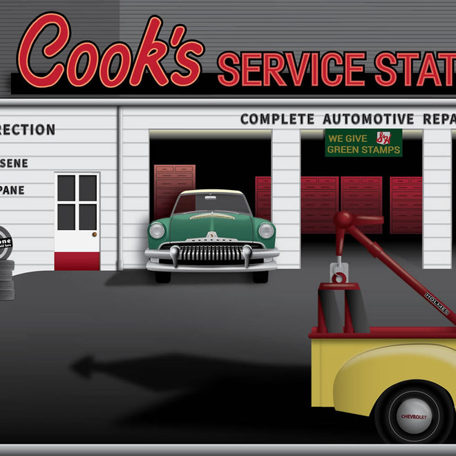 Cook's Service Station 1961