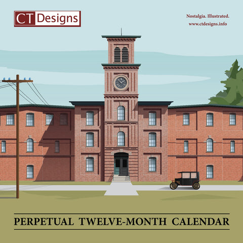 CT Designs Perpetual Twelve-Month Calendar