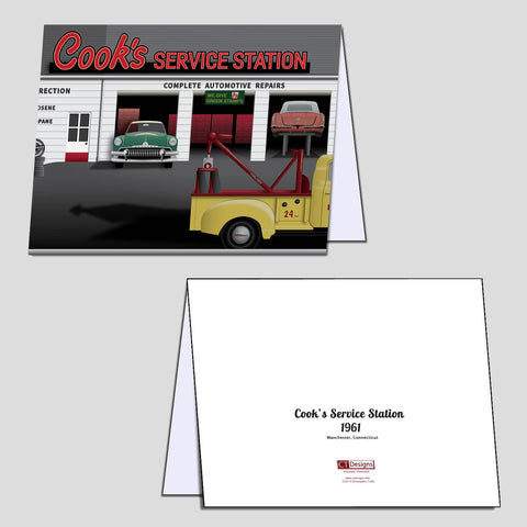 Cook's Service Station 1961 Note Cards