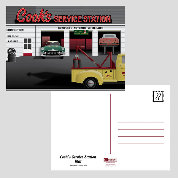 Cook's Service Station 1961 Post Cards