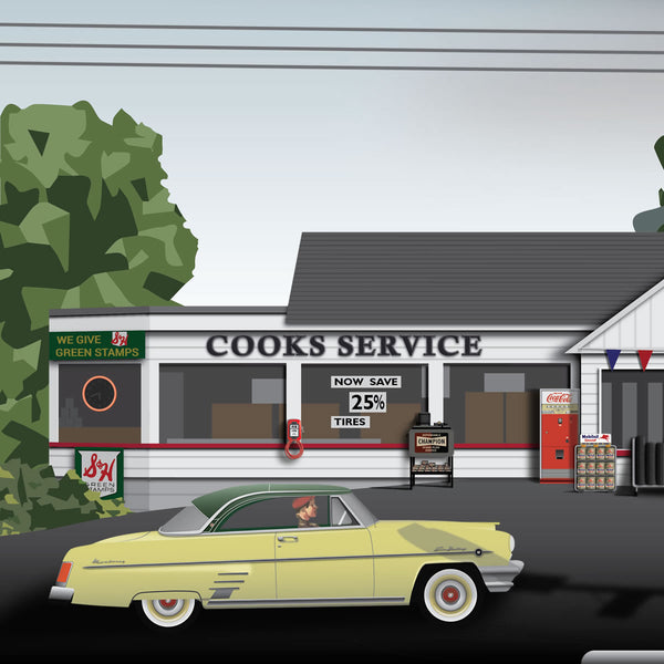 Cook's Service Station 1961 Canvas Prints
