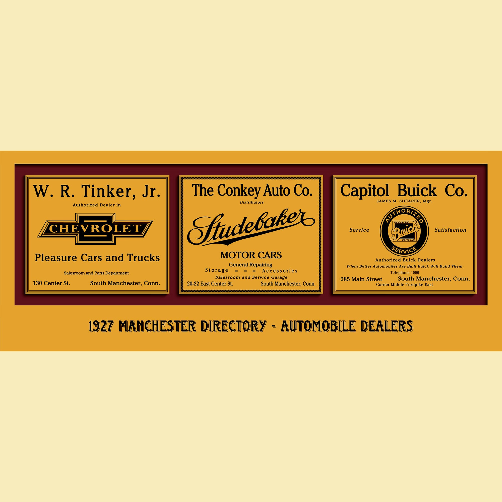 1927 Manchester Directory - Automobile Dealers