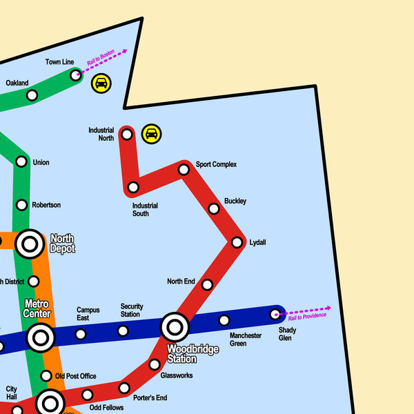 Manchester Transit Authority Map