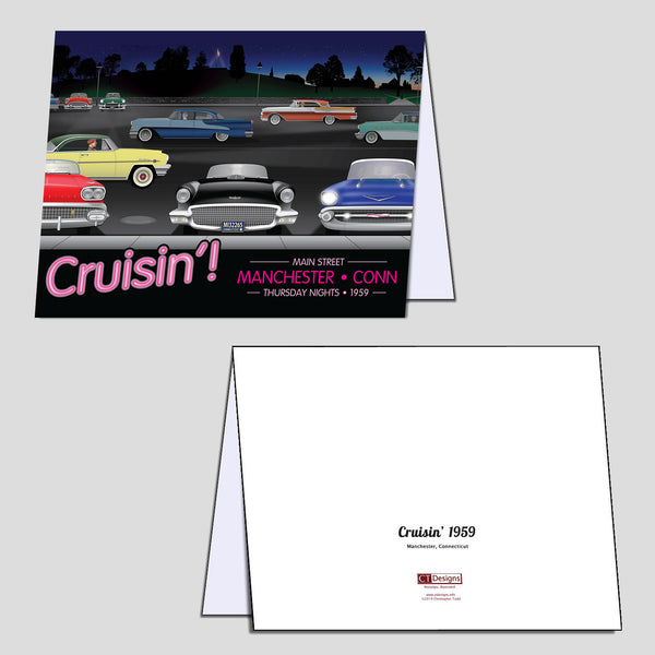 Cruisin' 1959 Note Cards