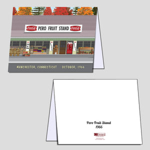 Pero Fruit Stand 1966 Note Cards