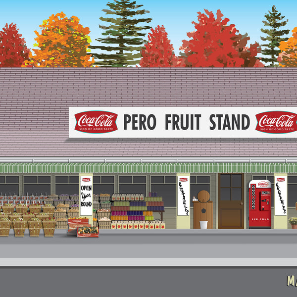 Pero Fruit Stand 1966 Canvas Prints