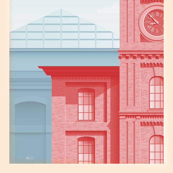 """Visit Manchester"" Travel Poster"