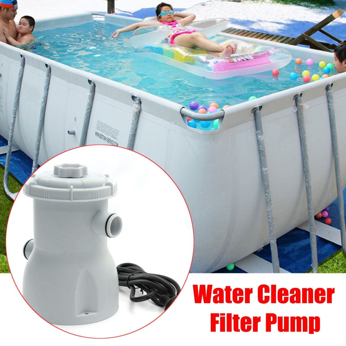 Electric Filter Pump Swimming Pool Filter Water Clean
