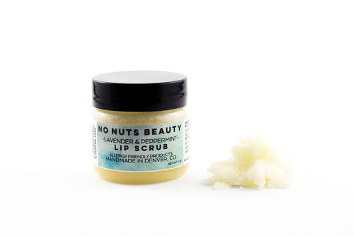 No Nuts Beauty Peppermint and Lavender Lip Scrub