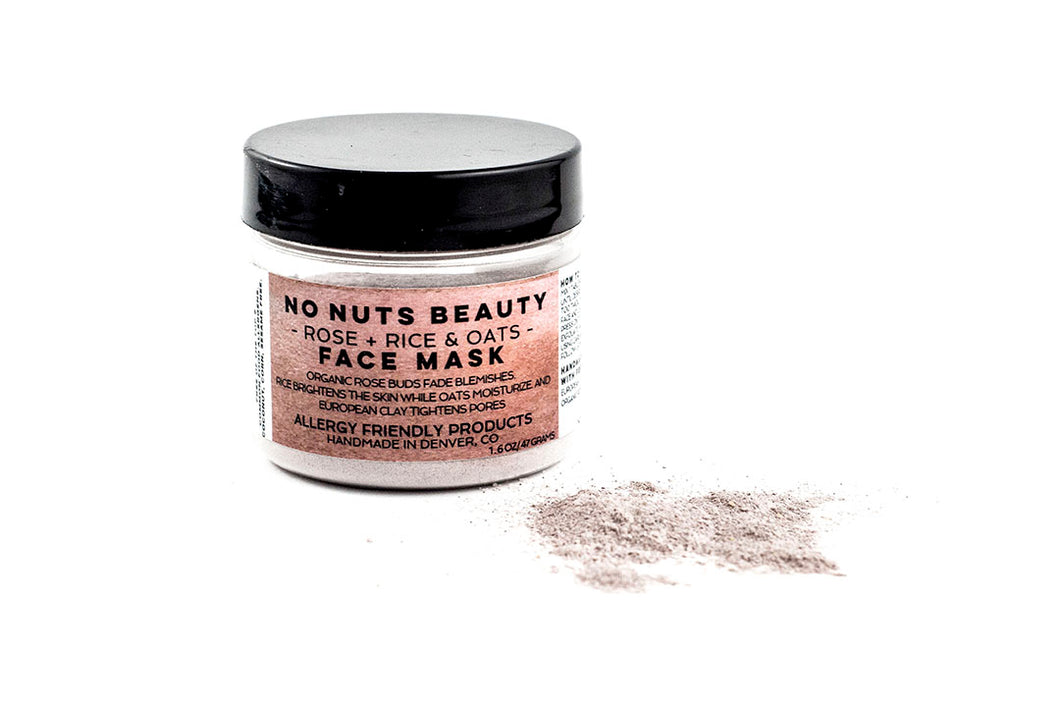 No Nuts Beauty Rose, Rice, & Oats Face Mask