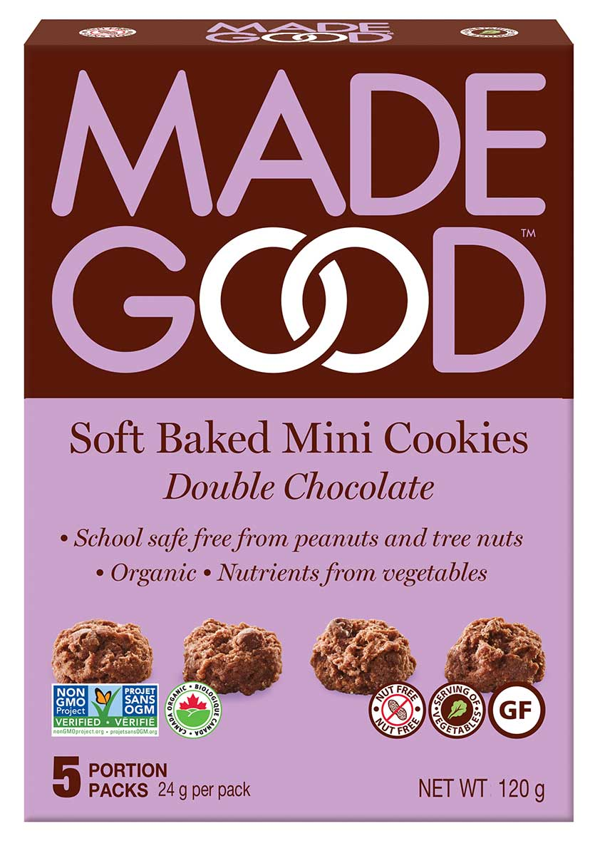 MadeGood Soft Baked Mini Cookies Double Chocolate