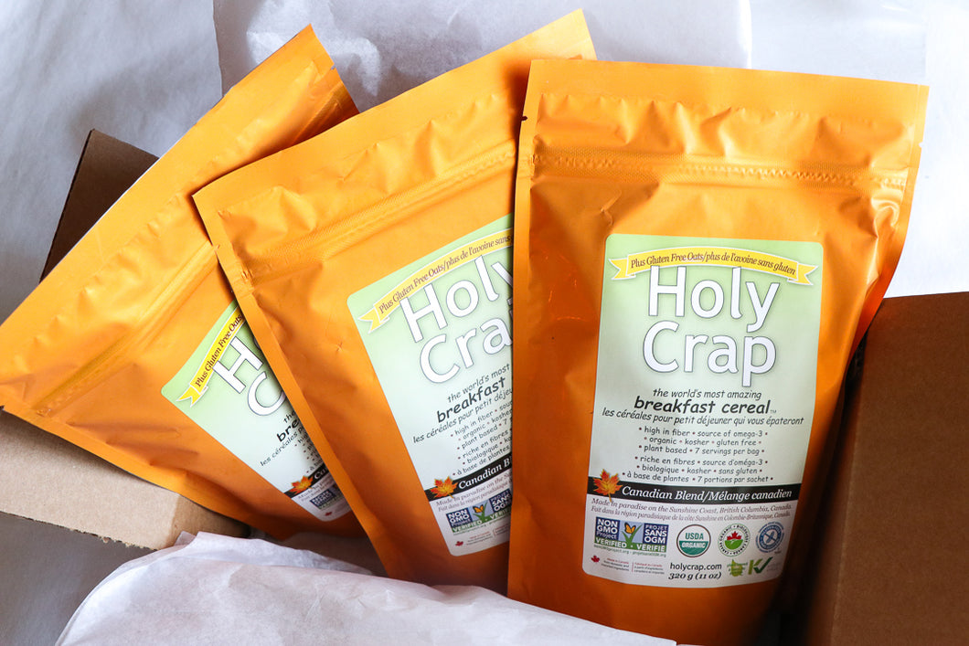 Holy Crap Gluten-Free Oatmeal 3 Pack