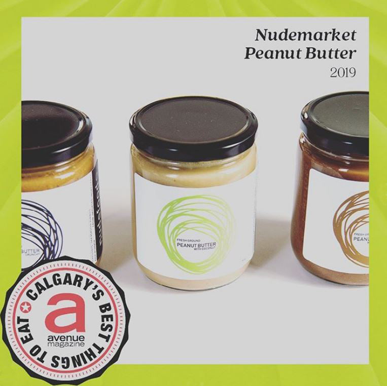 nudeMarket Peanut Butter one of the 25 Best Things to Eat in Calgary 2019!