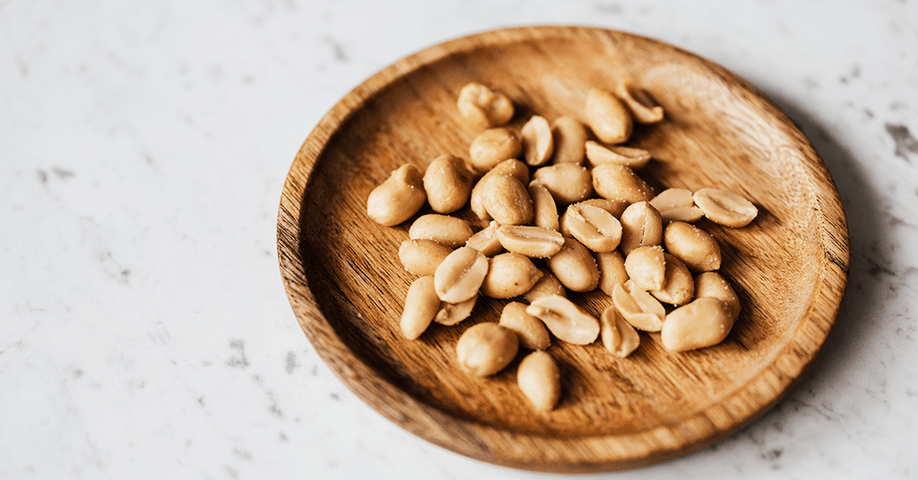 Plate of protein packed peanuts