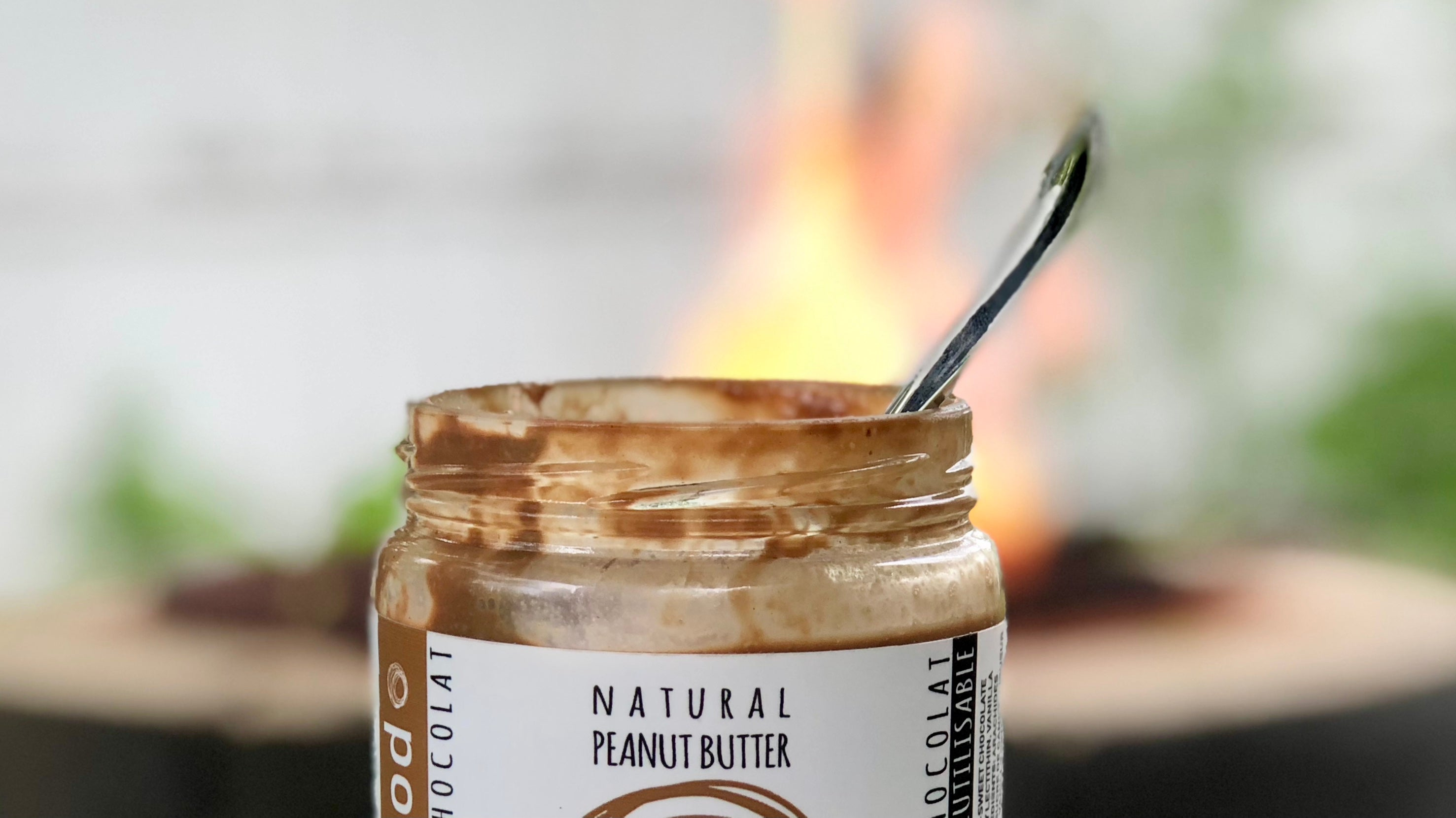 Chocolate Peanut Butter in Front of Campfire