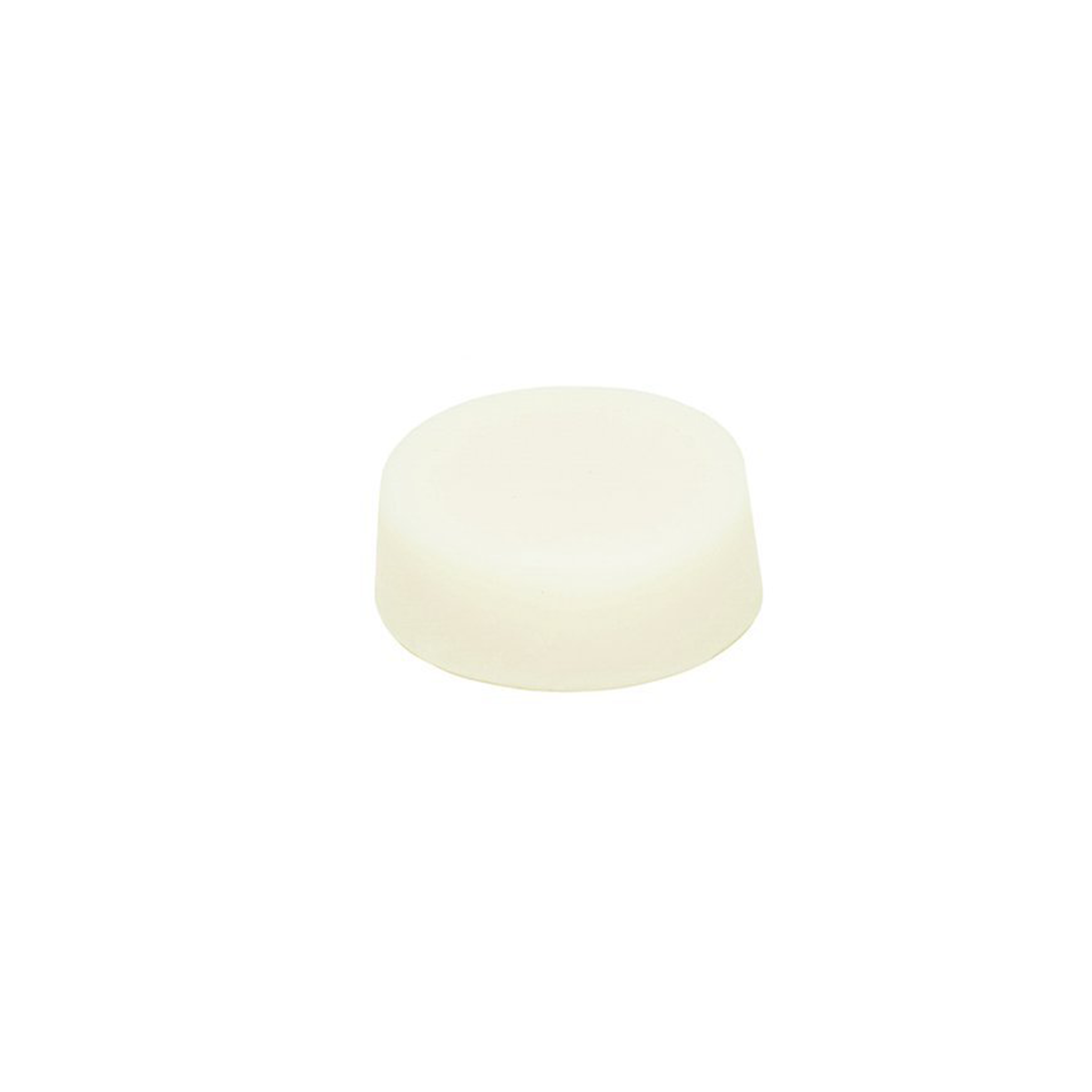 White conditioner bar on white background.