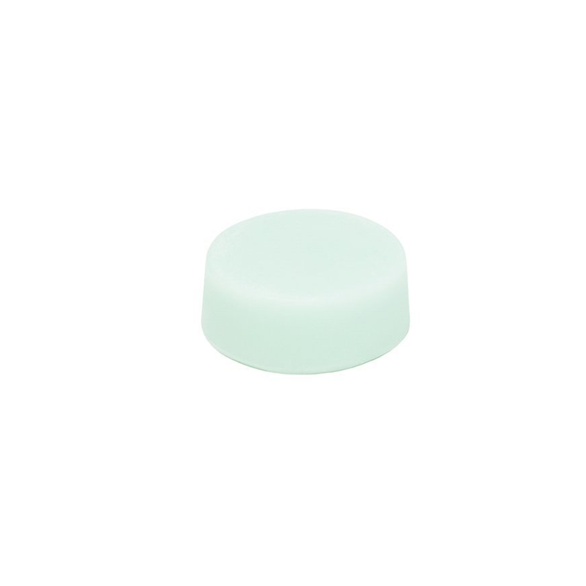 Light teal solid conditioner bar on white background.