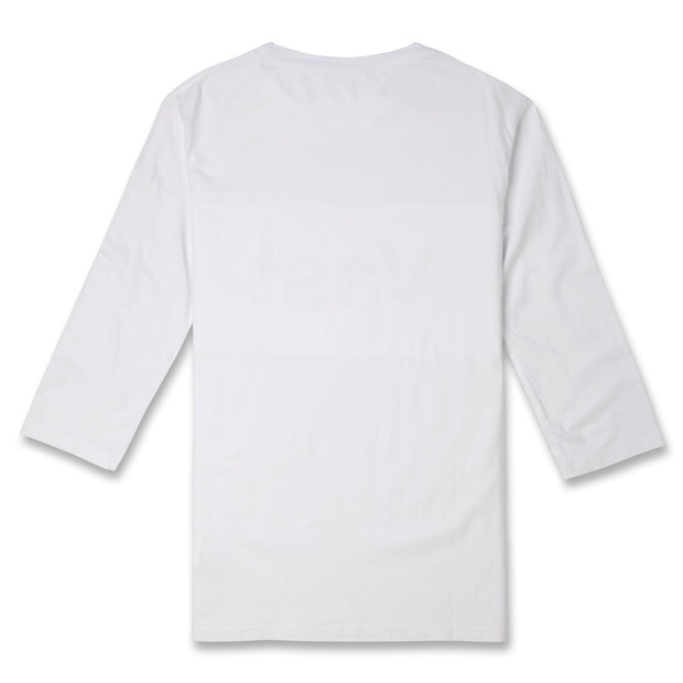 Tonal Quarter Sleeve Tee - White