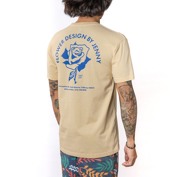 Vast Flower Shop Tee - Tan
